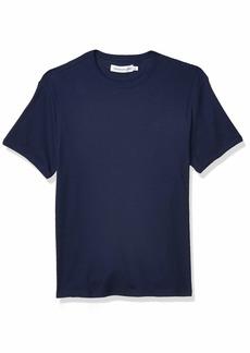 Calvin Klein Men's Short Sleeve Casual Monogram Waffle Crew Neck Shirt