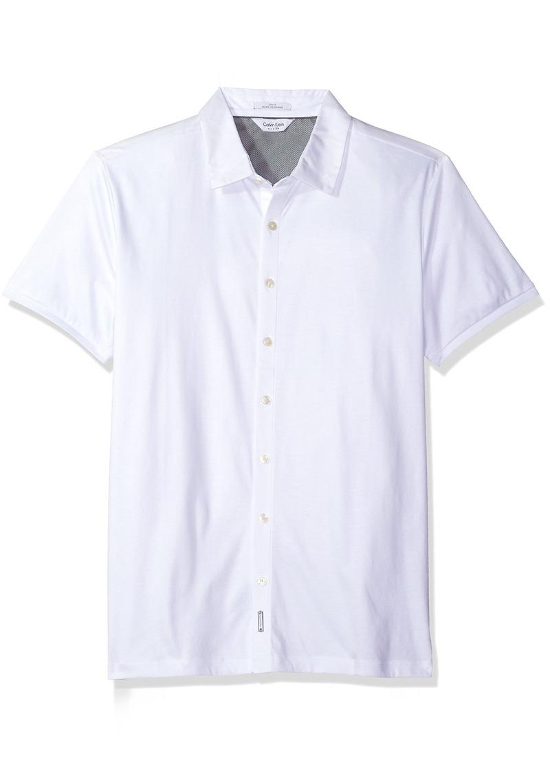 Calvin Klein Calvin Klein Men 39 S Short Sleeve Coat Front