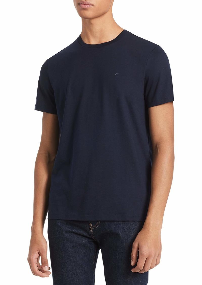 Calvin Klein Men's Short Sleeve Crew Neck Liquid Jersey T-Shirt with UV Protection