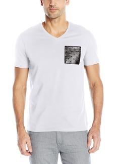 Calvin Klein Men's Short Sleeve V-Neck Graphic T-Shirts