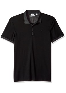 Calvin Klein Men's Short Sleeve Jacquard Polo Shirt  L