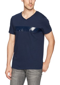 Calvin Klein Men's Short Sleeve Knock Out CK Logo Print T-Shirt