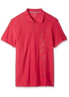 Calvin Klein Men's Short Sleeve  Logo Pique Polo Shirte