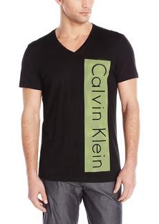 Calvin Klein Men's Short Sleeve Mesh Screen Grap Black