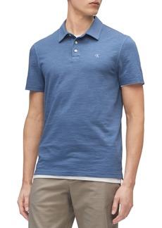 Calvin Klein Men's Short Sleeve Monogram Slub Polo