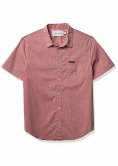 Calvin Klein Men's Short Sleeve Oxford Button Down Shirt  2X-Large