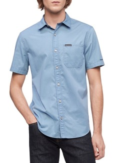 Calvin Klein Men's Short Sleeve Pocket Twill Shirt