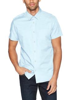 Calvin Klein Men's Short Sleeve Woven Button Down Shirt  2X-Large