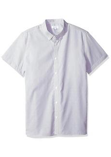 Calvin Klein Men's Short Sleeve Woven Button Down Shirt  XL
