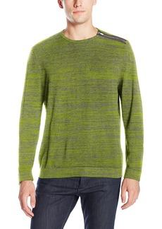 Calvin Klein Men's Shoulder Zip Accent Long Sleeve Sweater