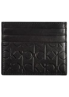 Calvin Klein Men's Signature Leather Card Case