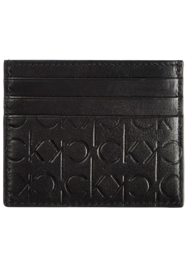 Calvin Klein Men's Signature Leather Card Case