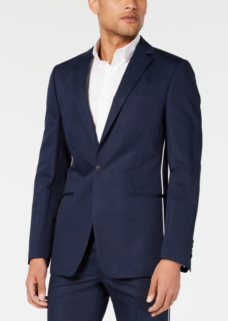 Calvin Klein Men's Skinny-Fit Contrast Piped Suit Jacket