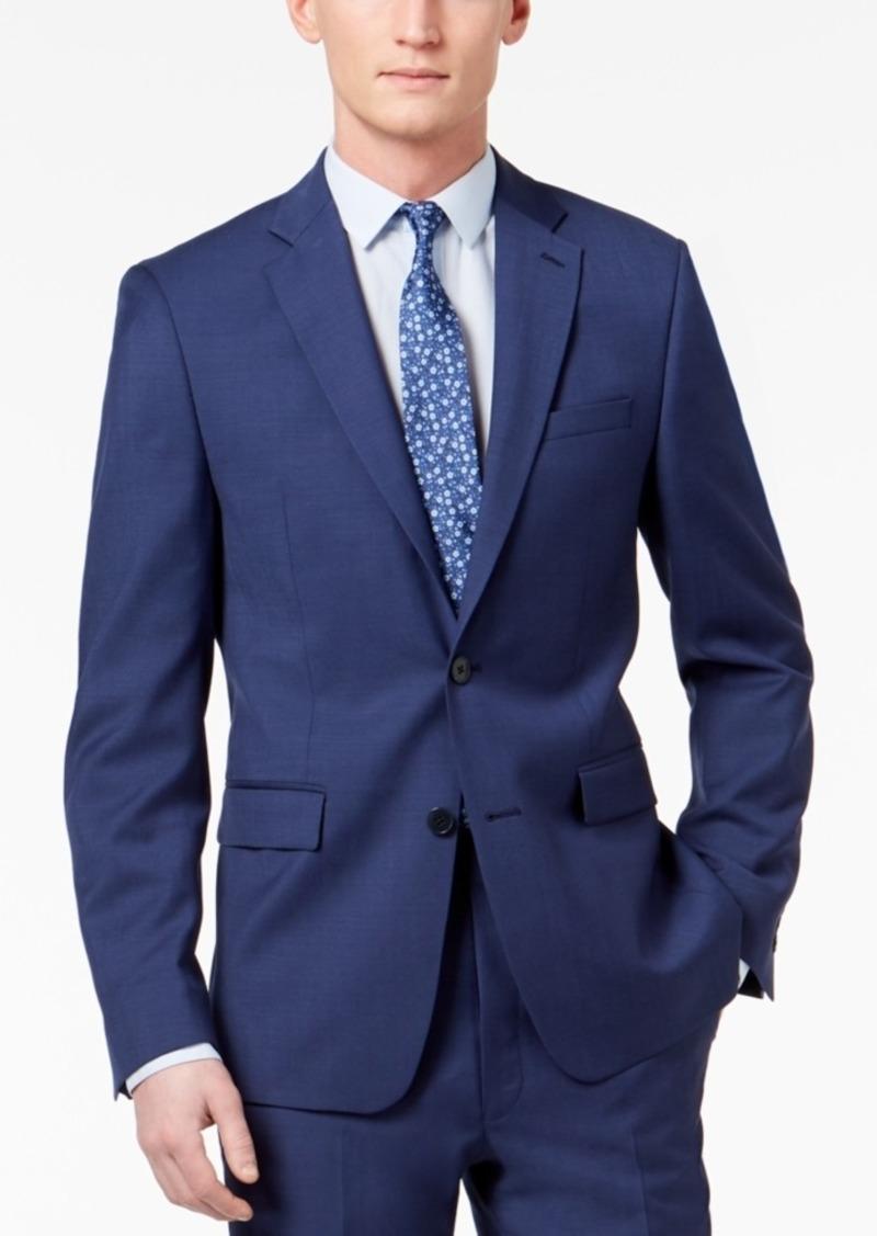Calvin Klein Men's Skinny Fit Infinite Stretch Blue Twill Suit Jacket
