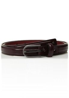 Calvin Klein Men's Skinny Patent Leather Dress Belt with Studs plum brushed gunmetal