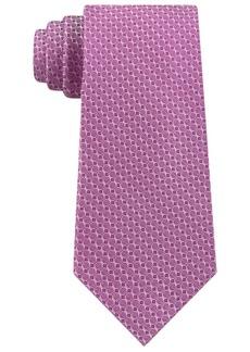 Calvin Klein Men's Slim Diamond Silk Tie