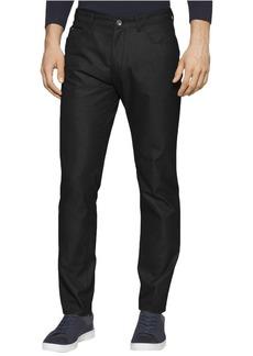 Calvin Klein Men's Slim Fit 5-Pocket Dobby Texture Pant  33W 30L