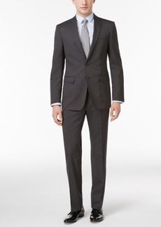 Calvin Klein Men's Slim-Fit Black Micro Pinstripe Suit