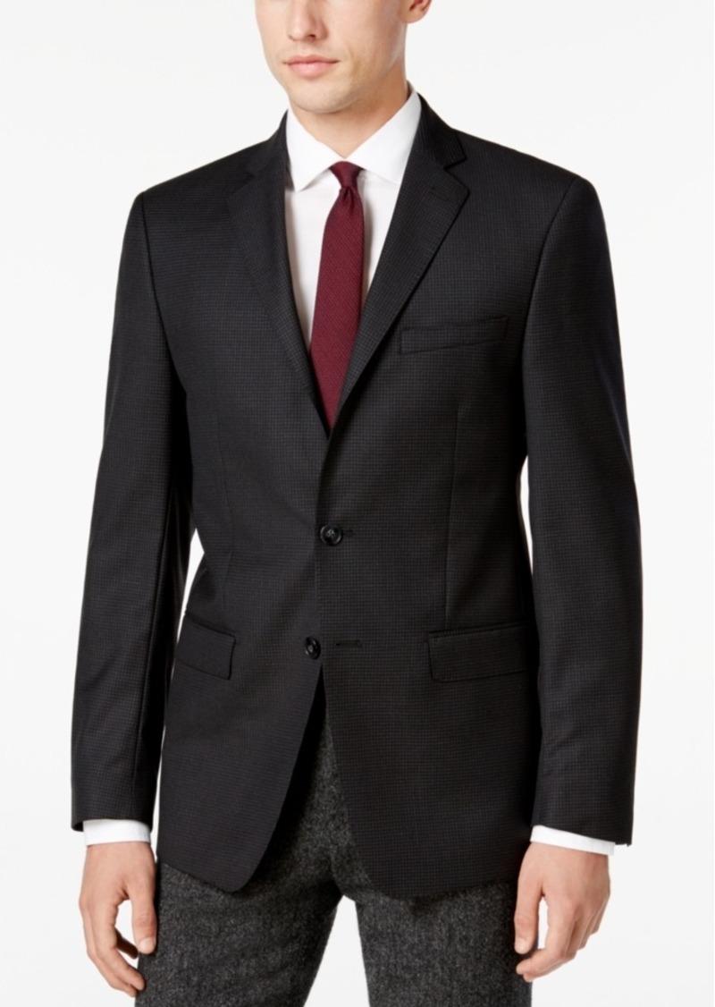 Calvin Klein Men's Slim-Fit Blue Check Sport Coat