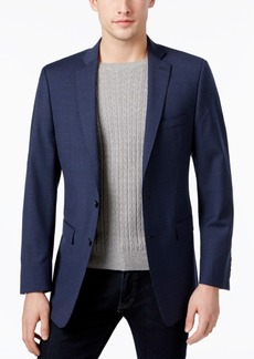 Calvin Klein Men's Slim-Fit Blue/Black Mini-Grid Sport Coat