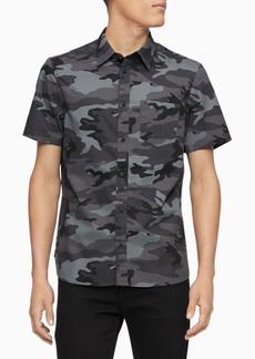 Calvin Klein Men's Slim-Fit Camouflage Shirt