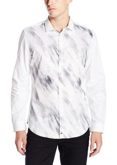 Calvin Klein Men's Long Sleeve Woven Button Down Shirt
