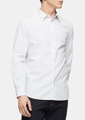 Calvin Klein Men's Slim-Fit Dobby Stripe Shirt