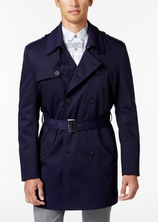 Calvin Klein Men's Slim Fit Double-Breasted Belted Raincoat