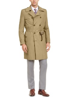 Calvin Klein Men's Slim-Fit Double Breasted Military Raincoat