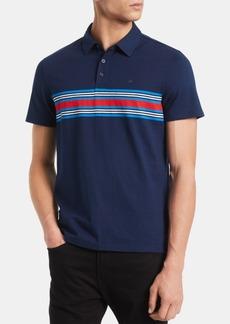 Calvin Klein Men's Slim-Fit Engineered Stripe Polo