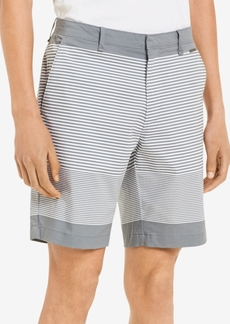 "Calvin Klein Men's Slim-Fit Flat-Front Striped 9"" Shorts"