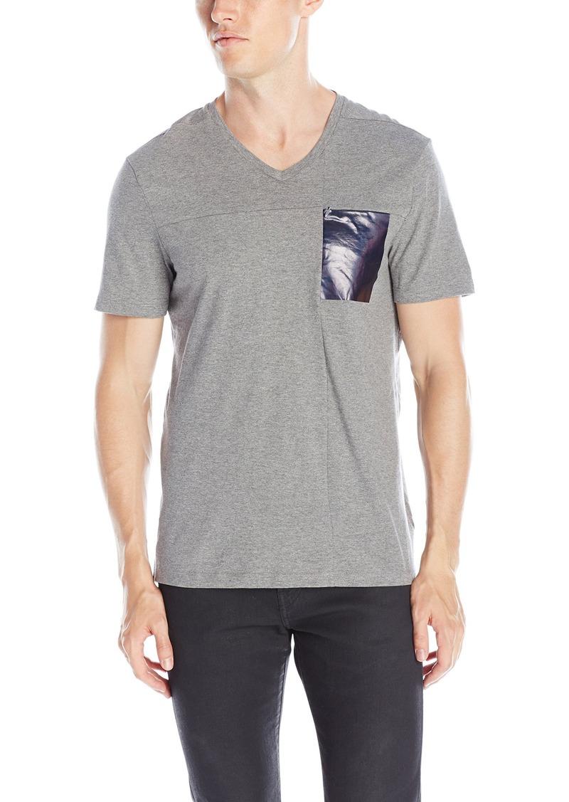 Calvin klein calvin klein men 39 s slim fit foil pocket short for Men s v neck pocket tee shirts