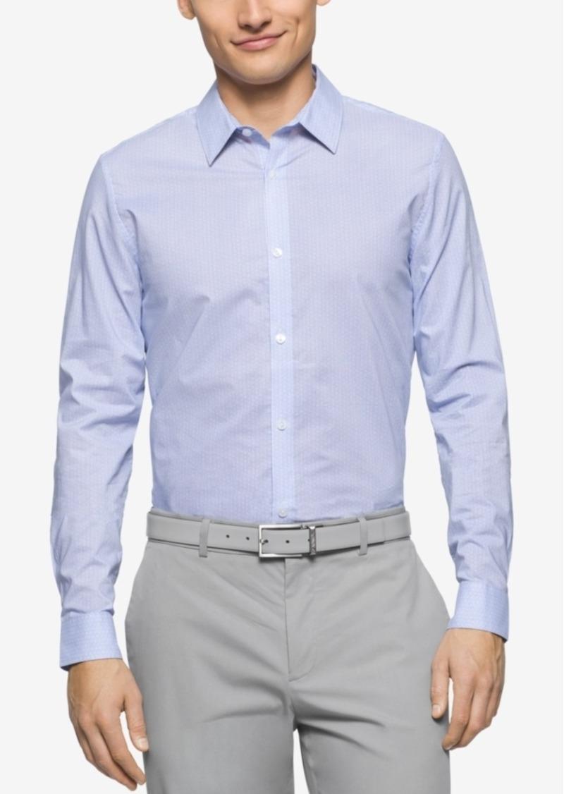 Calvin Klein Men's Slim-Fit Geometric-Print Long-Sleeve Shirt