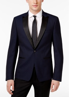 Calvin Klein Men's Slim-Fit Navy Jacquard Dinner Jacket