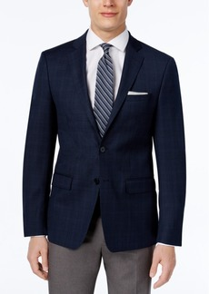 Calvin Klein Men's Slim-Fit Navy Plaid Sport Coat