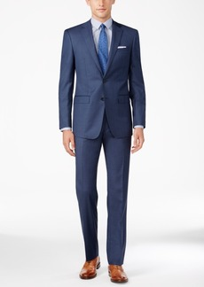 Calvin Klein Men's Slim Fit Navy Sharkskin Suit