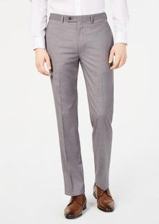 Calvin Klein Men's Slim-Fit Performance Stretch Wrinkle-Resistant Light Gray Melange Dress Pants