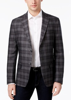 Calvin Klein Men's Slim-Fit Plaid Linen Sport Coat