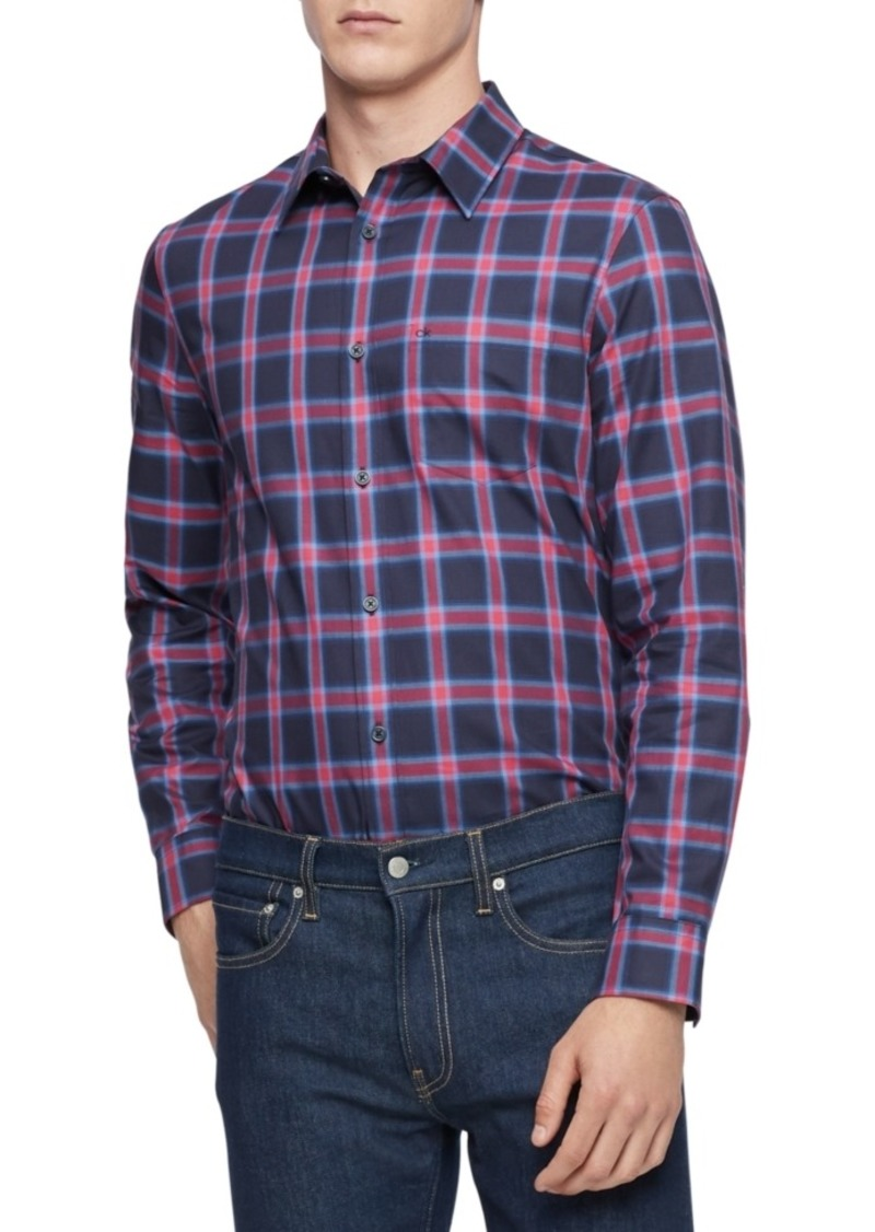 Calvin Klein Men's Slim-Fit Plaid Shirt