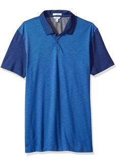 Calvin Klein Men's Slim Fit Short Sleeve Colorblock Lyocel Polo Shirt