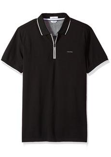 Calvin Klein Men's Slim Fit Short Sleeve Ottoman Blocked Collar Polo Shirt