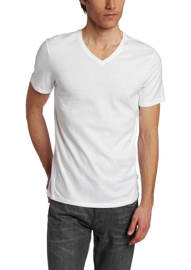 f781c0331 Calvin Klein Calvin Klein Men s Slim Fit Short Sleeve V-Neck T-Shirt ...