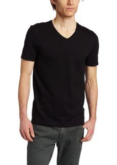 Calvin Klein Men's Slim Fit Short Sleeve V-Neck T-Shirt Black