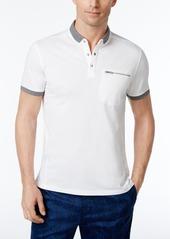 Calvin Klein Men's Slim-Fit Solid Mini-Contrast Polo