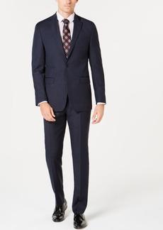Calvin Klein Men's Slim-Fit Stretch Blue Pinstripe Suit