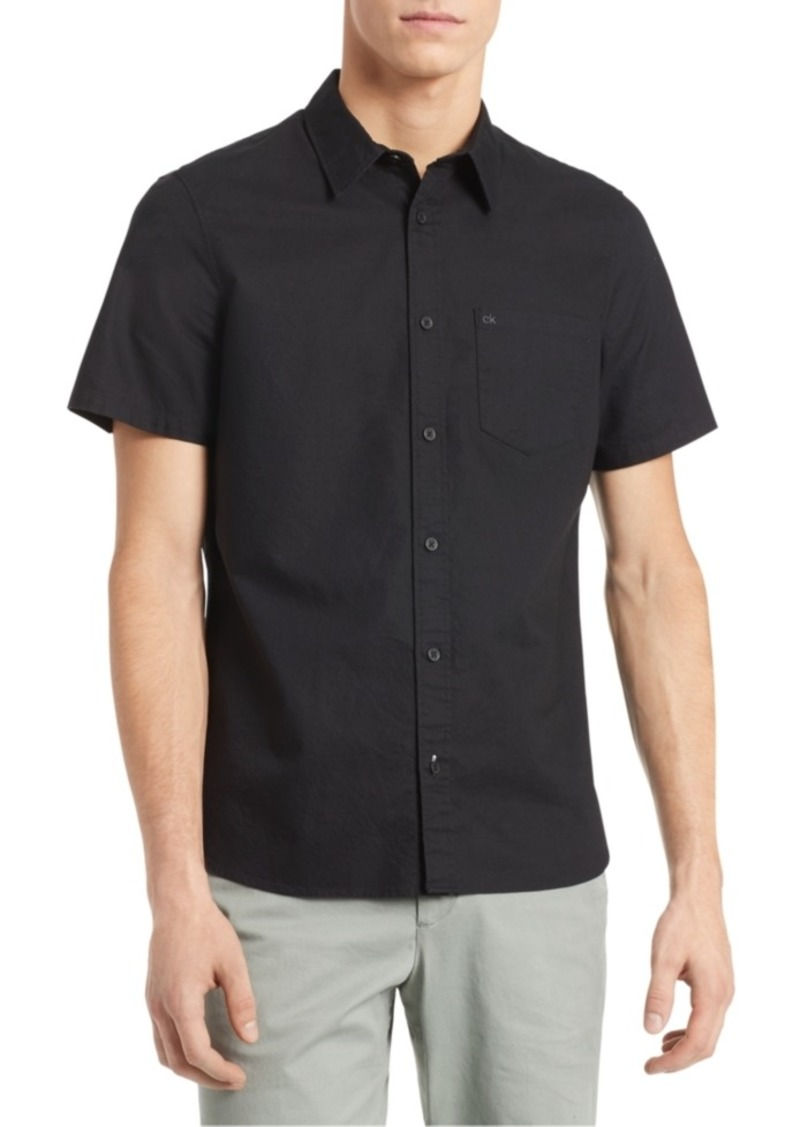Calvin Klein Men's Slim-Fit Stretch Short Sleeve Shirt