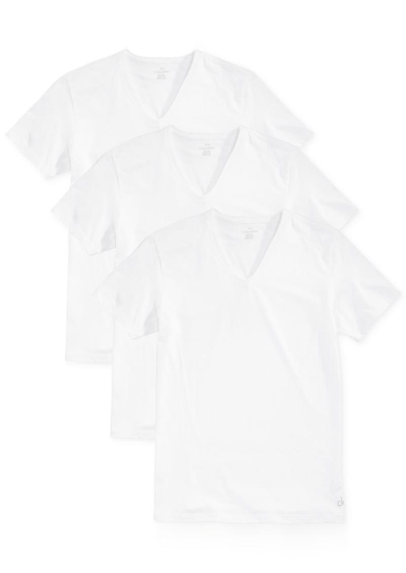 Calvin Klein Men's Slim-Fit V-Neck 3-pack