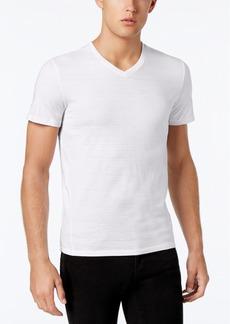 Calvin Klein Men's Slim Fit V-Neck Textured Tee