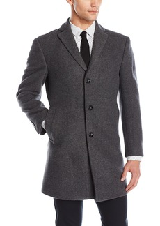 Calvin Klein Men's Slim Fit Wool Blend Overcoat Jacket   Regular