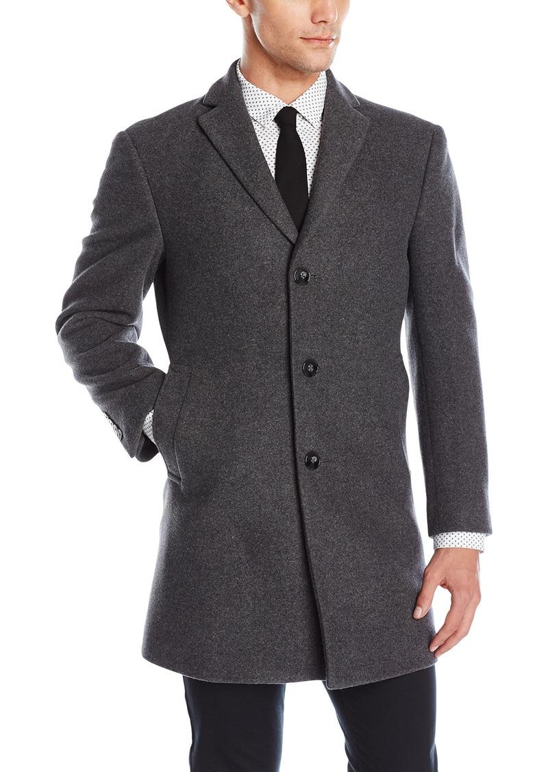 Calvin Klein Men's Slim Fit Wool Blend Overcoat Jacket   Regular